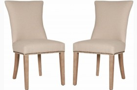 Villa Jute Stone Wash Avery Dining Chair Set of 2