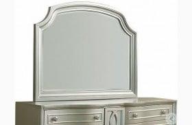 Regency Park Pearlized Silver Mirror