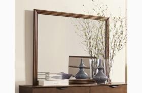 Mid-Mod Cinnamon Mirror
