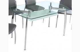 B11 Glass Rectangular Dining Table