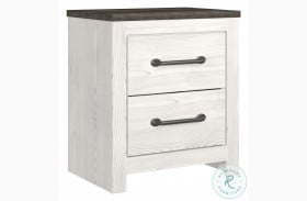 Gerridan White And Gray Nightstand