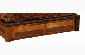 Barnwood Footboard 2 Drawer Dresser for Full Platform Bed