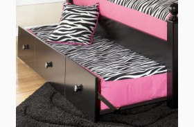 Jaidyn Youth Twin Trundle Panel with Slat Roll and Trundle Metal Frame
