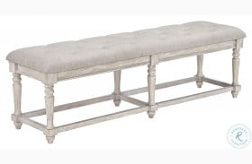 Barton Creek Off White Paint Bed Bench