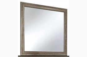 Javarin Grayish Brown Bedroom Mirror