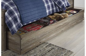 Javarin Grayish Brown Trundle Under Bed Storage
