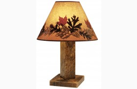 Barnwood Large Shade Table Lamp