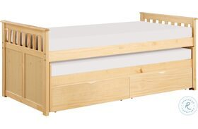Bartly Natural Pine Twin Over Twin Storage Bed