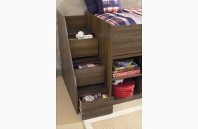 Juararo Left Storage Steps with Loft Ends