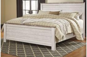 Willowton Whitewash Panel Bed