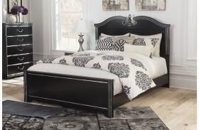 Navoni Black Queen Panel Bed