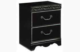 Navoni Black Two Drawer Nightstand