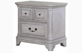 Windsor Lane Weathered Grey Wood Drawer Nightstand