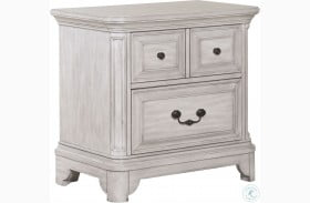 Windsor Lane Weathered White Drawer Nightstand