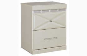 Dreamur Champagne Two Drawer Nightstand