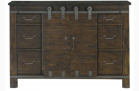 Pine Hill Rustic Pine Wood Media Chest