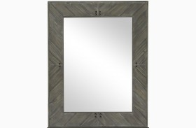 Cheswick Washed Linen Grey Portrait Mirror
