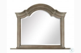 Tinley Park Dove Tail Grey Shaped Mirror