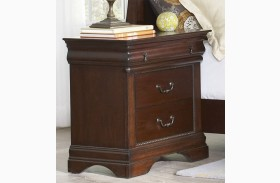 Chateau Vintage Cherry 3 Drawer Nightstand
