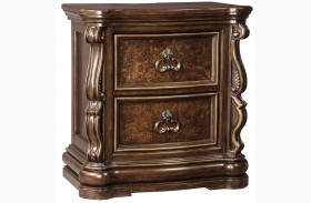 Florentown Dark Brown 2 Drawer Nightstand