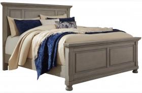 Lettner Light Gray Panel Bed