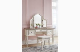 Realyn Chipped Two Tone 3 Piece Vanity