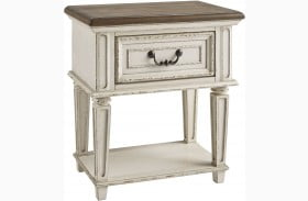 Realyn Chipped 1 Drawer Nightstand