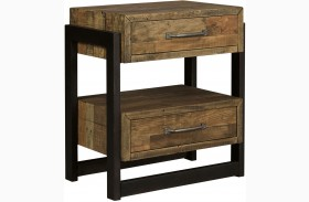 Sommerford Brown 2 Drawer Nightstand