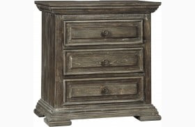 Wyndahl Brown Three Drawer Nightstand
