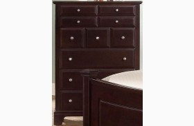 Hamilton/Franklin Merlot 5 Drawer Chest