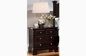 Hamilton/Franklin Merlot 2 Drawer Nightstand