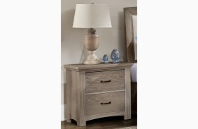 Transitions Driftwood Oak 2 Drawer Nightstand