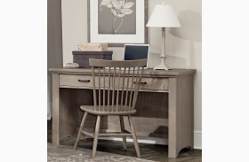 Transitions Driftwood Oak 2 Drawer Laptop Desk
