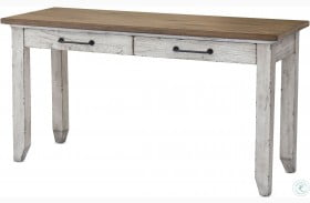 Bear Creek Rustic Ivory And Honey Sofa Table
