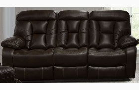 Berlin Walnut Dual Power Reclining Sofa