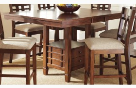 Bolton Extendable Square Counter Height Storage Dining Table