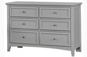 Bonanza Gray Double 6 Drawer Dresser