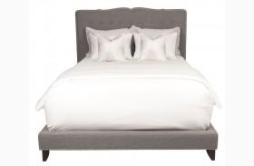 Boulevard Espresso Smoke Fabric Queen Platform Bed