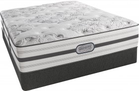 BeautyRest Recharge Platinum Encino Tight Top Luxury Firm Queen Size Mattress with Foundation