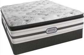 BeautyRest Recharge Platinum Fandago Pillow Top Plush Cal. King Size Mattress with Foundation