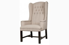Brook Espresso Birch Fabric Arm Chair