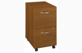 WC67552 Series C Warm Oak Mobile Pedestal