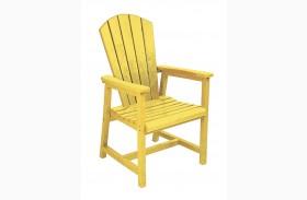 Generations Yellow Adirondack Dining Arm Chair