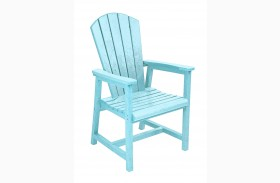 Generations Aqua Adirondack Dining Arm Chair
