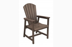 Generations Chocolate Adirondack Dining Arm Chair