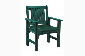 Generations Green Slat Back Dining Arm Chair