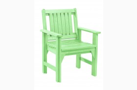Generations Lime Green Slat Back Dining Arm Chair