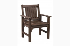 Generations Chocolate Slat Back Dining Arm Chair