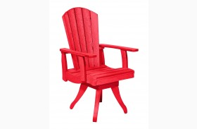 Generations Red Swivel Dining Arm Chair