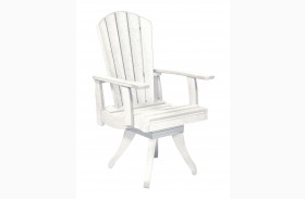 Generations White Swivel Dining Arm Chair